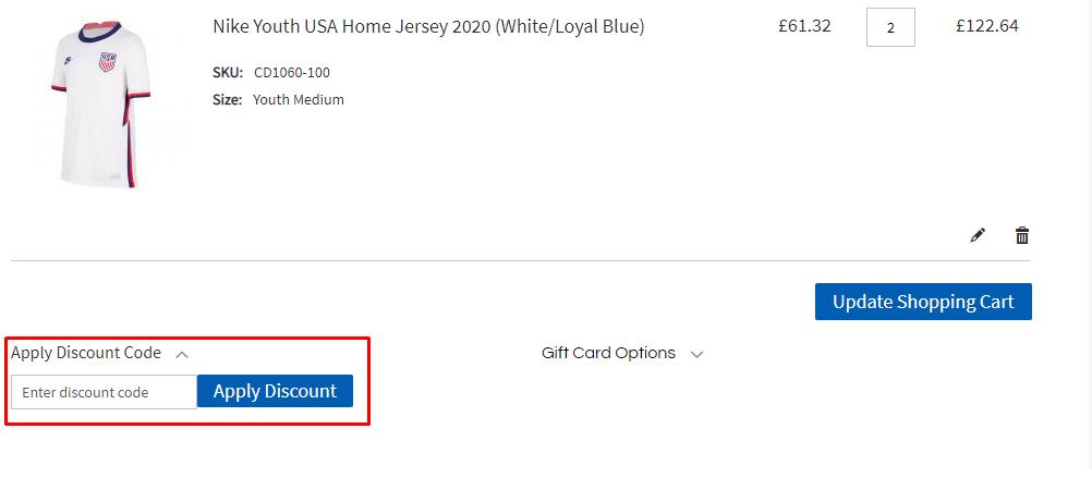 How do I use my Angelo's Soccer Corner discount code?