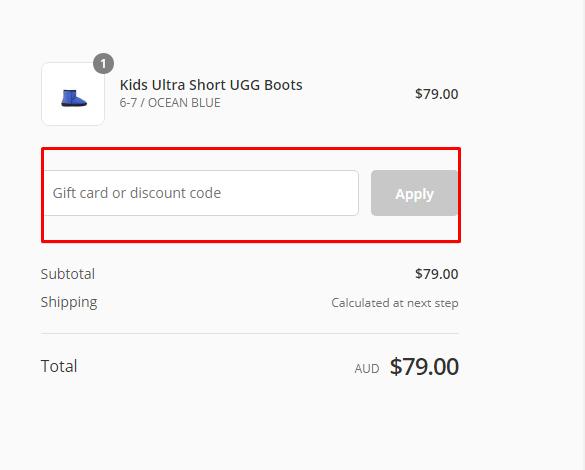 How do I use my Original UGG Boots discount code?