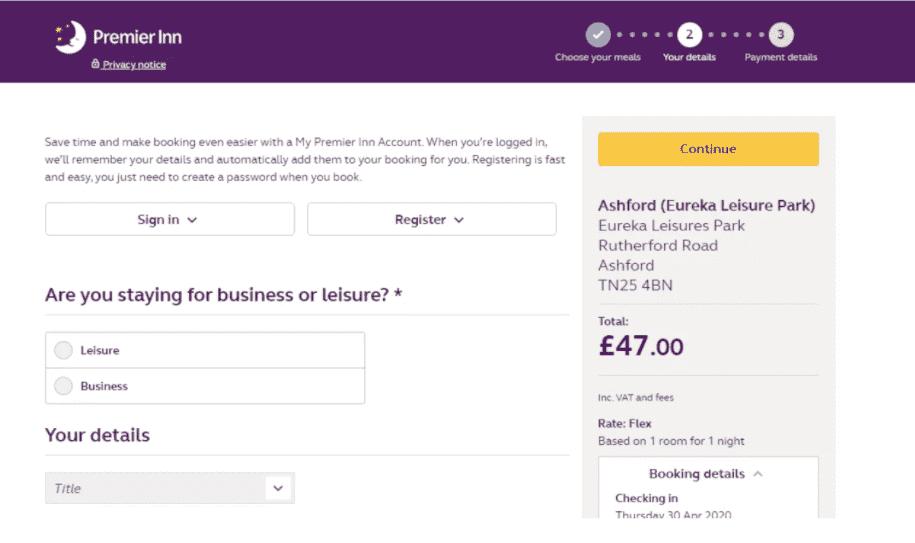 How do I use my Premier Inn discount code?
