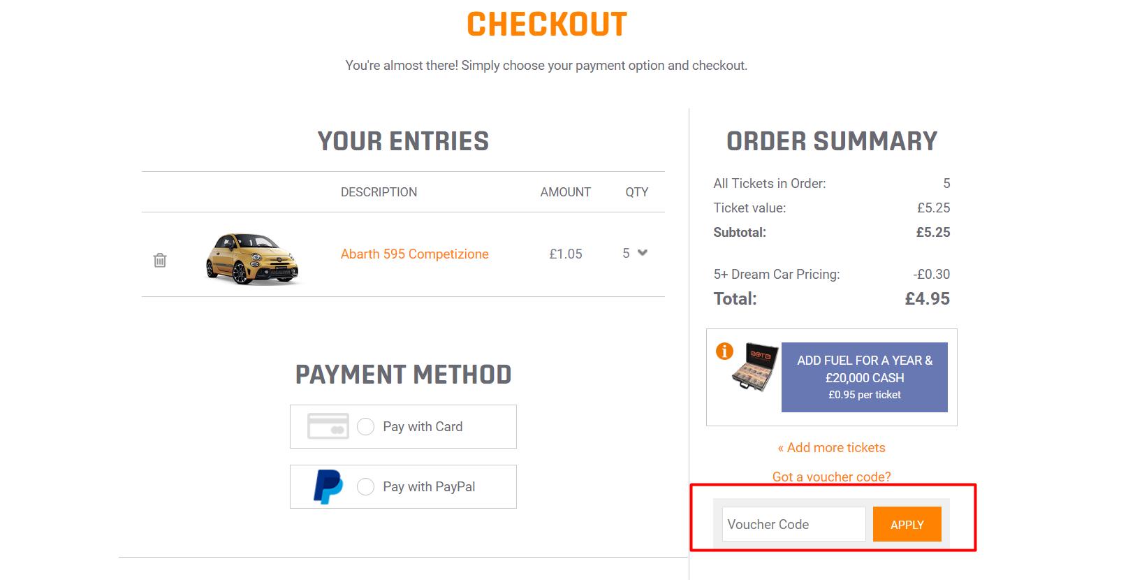 How do I use my BOTB discount code?