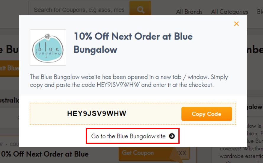 go to Blue Bungalow site