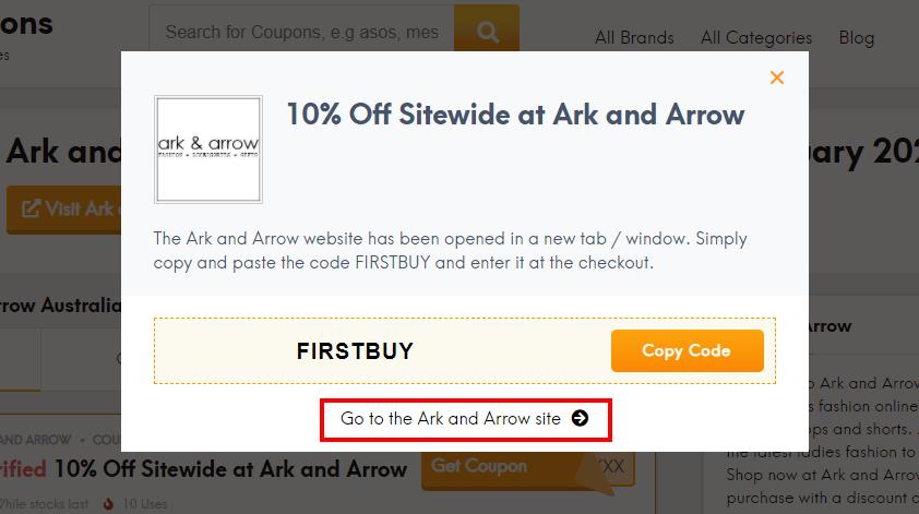 How do I use my Ark and Arrow discount code?