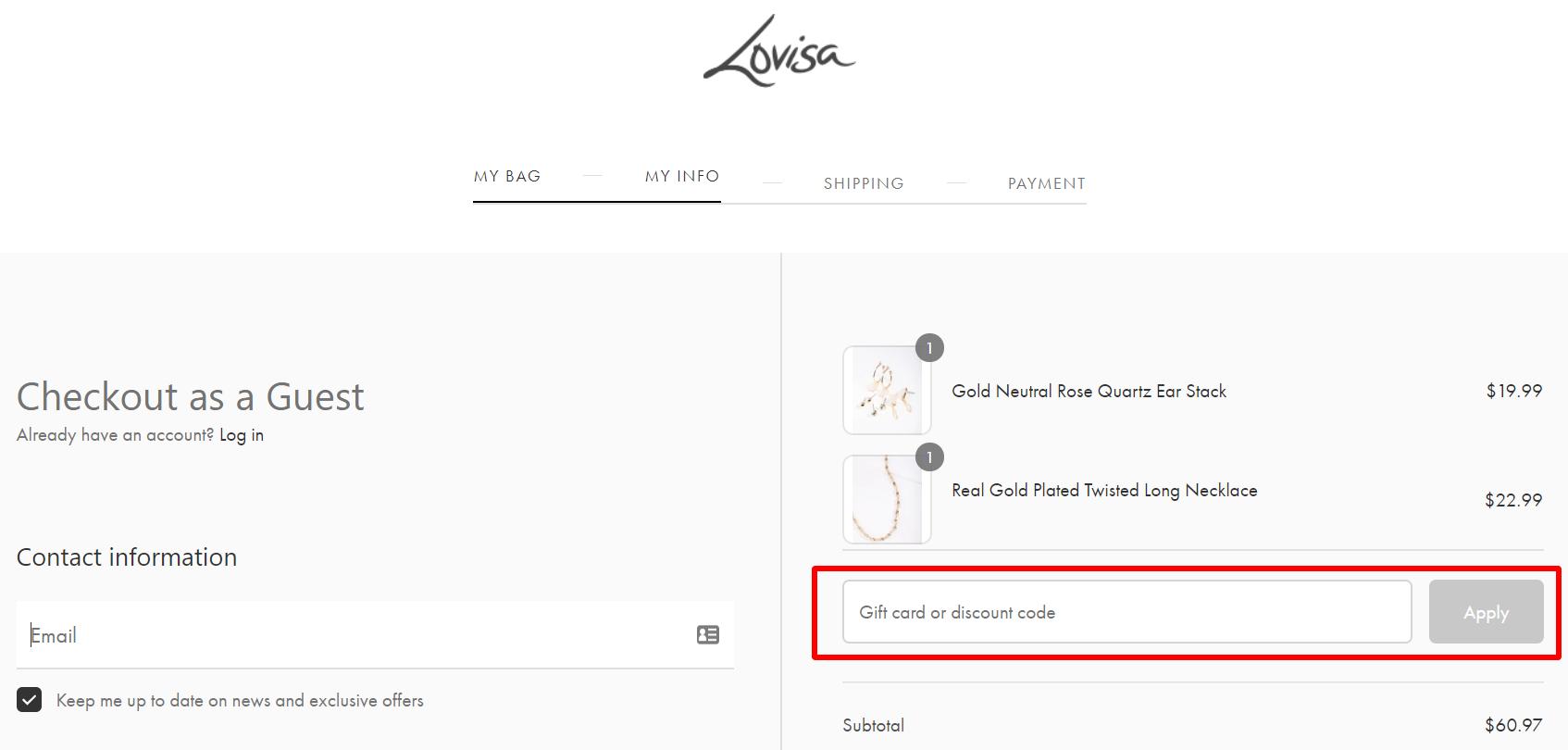 Lovisa AU discount