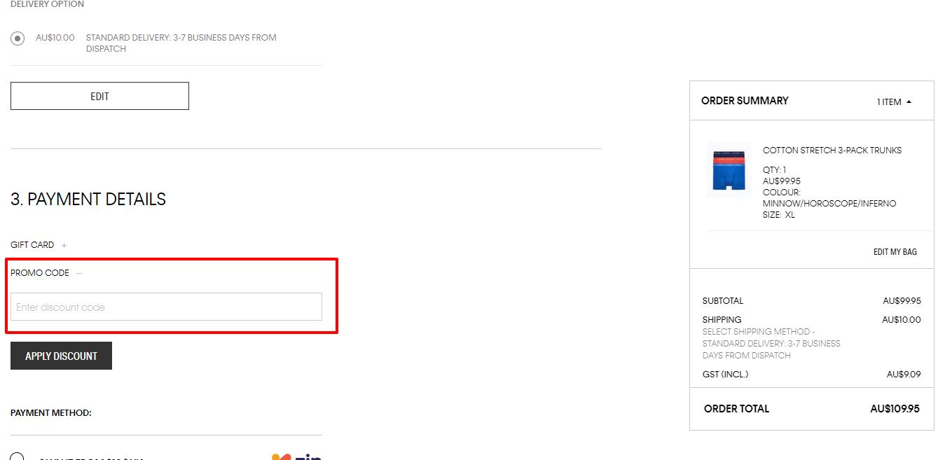 How do I use my Calvin Klein discount code?