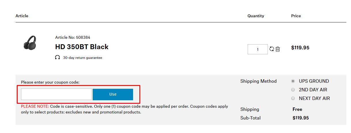 How do I use my Sennheiser discount code?