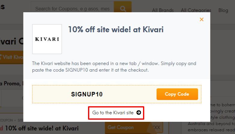 how to use Kivari discount code?