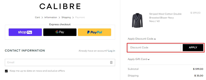 How do I use my Calibre discount code?