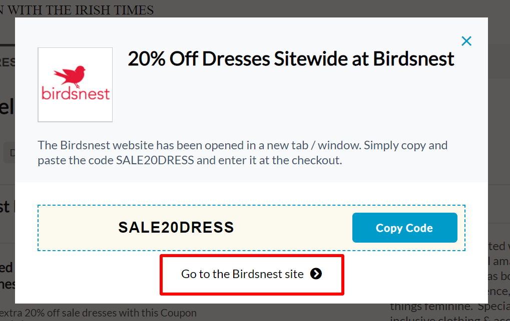 go to Birdsnest site IRT