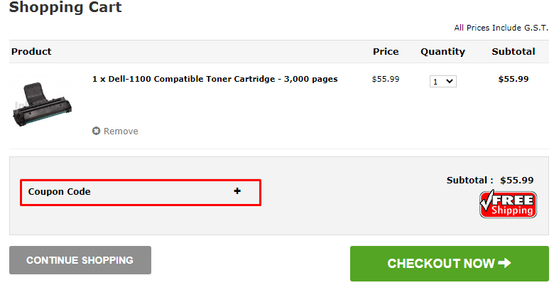 How do I use my Ink Station coupon code?