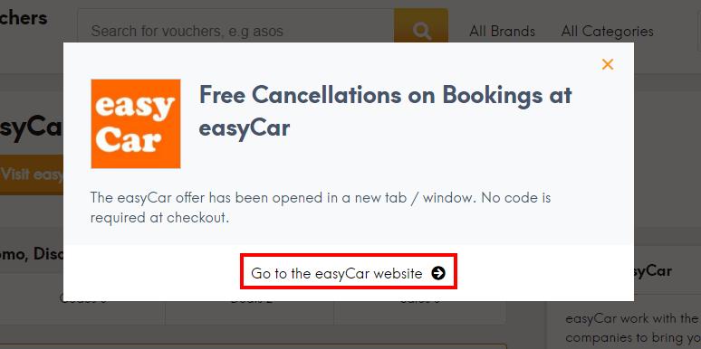 How do I use my easyCar offer?