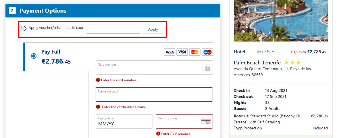 How do I use my alpharooms.com voucher code?