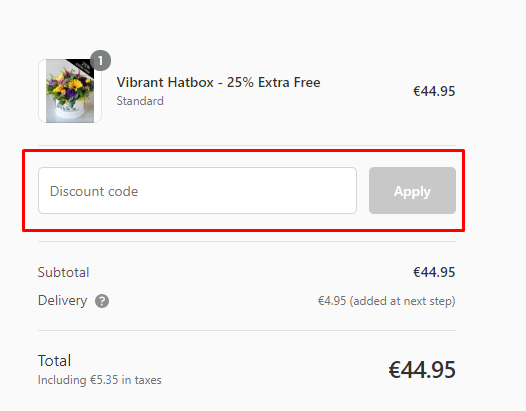 How do I use my Flowers.ie discount code?