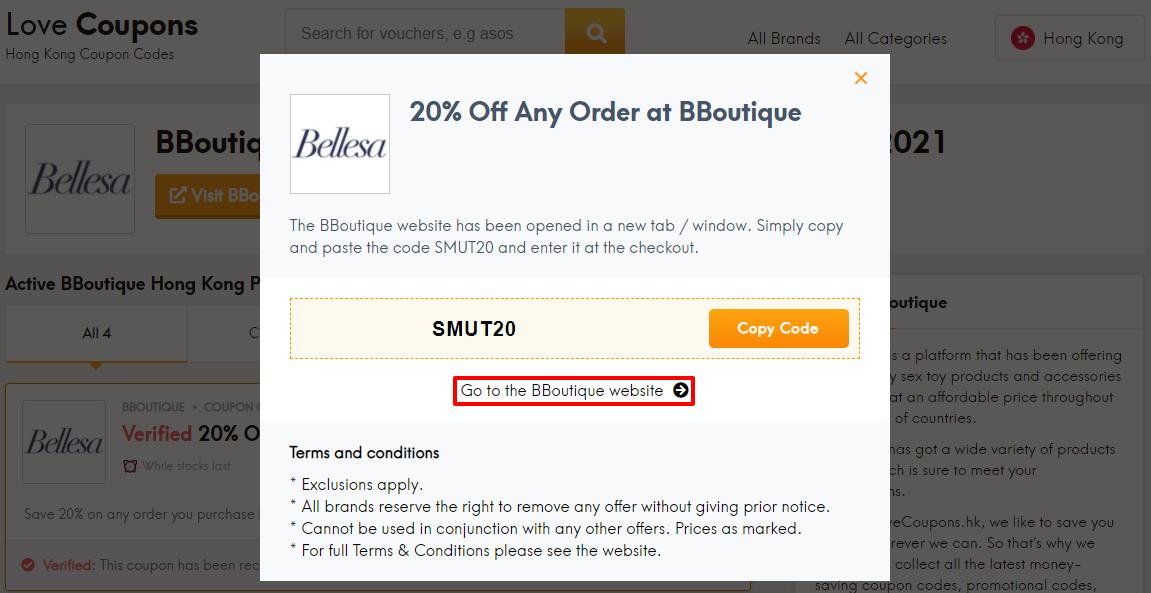 BBoutique Offer Code HK