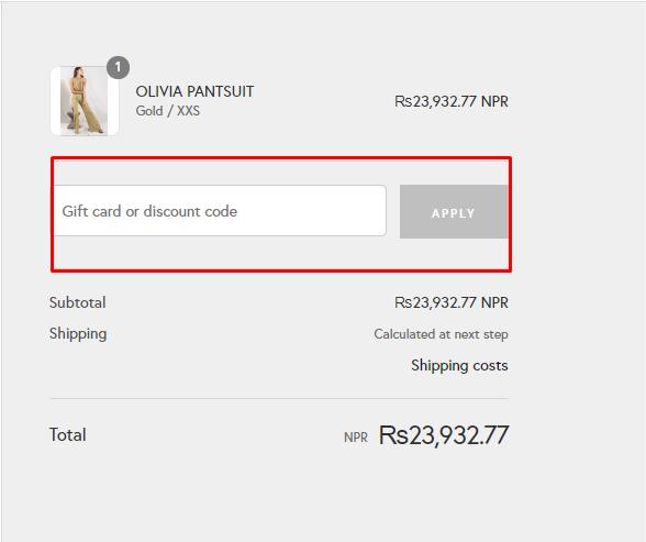 How do I use my MISHA discount code?