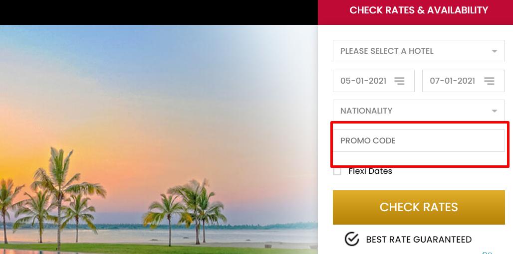 How do I use my Amaya Resorts & Spas promo code?