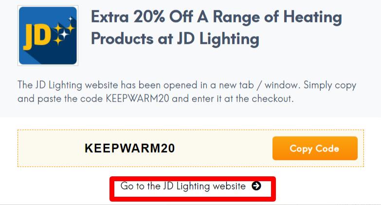 JD Lighting Coupon Code AU LC Site