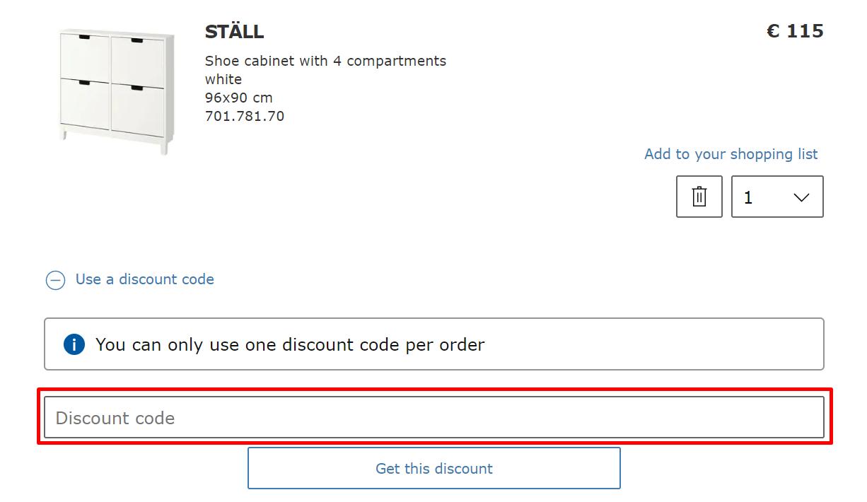 How Do I use my IKEA discount code?