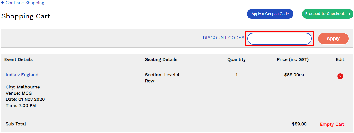 How do I use my The Ticket Merchant discount code?