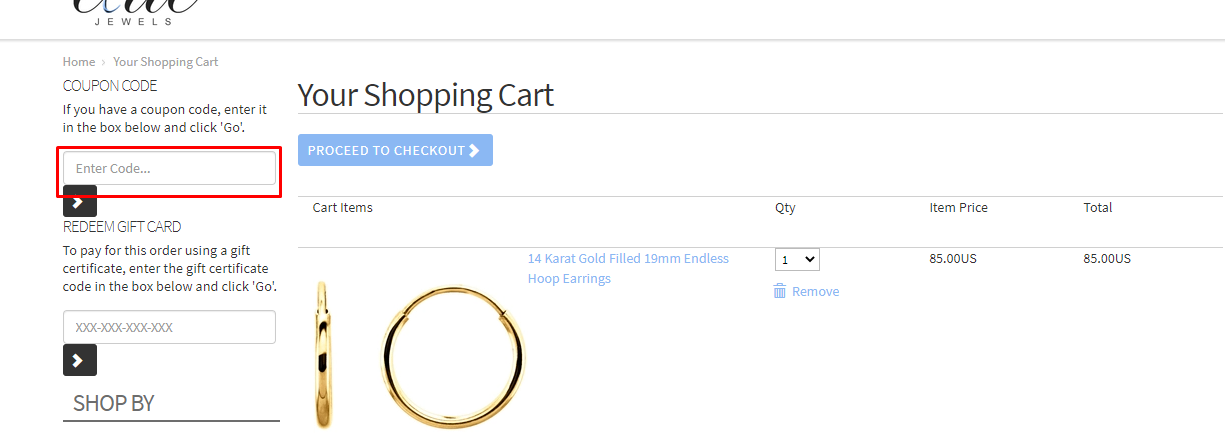 How do I use my EliteJewels.com coupon code?