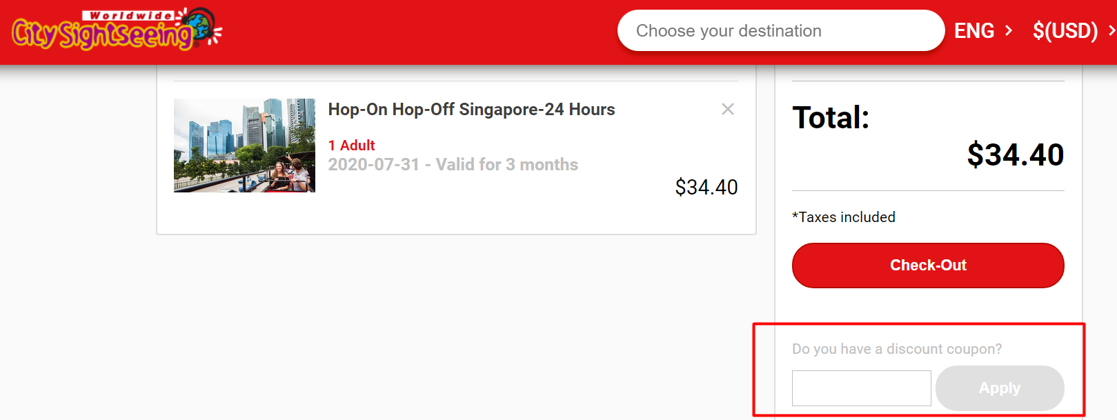 How do I use my City Sightseeing discount code?