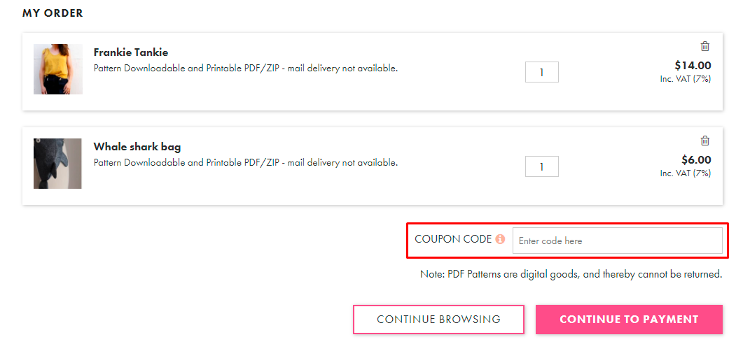 How do I use my Makerist coupon code?