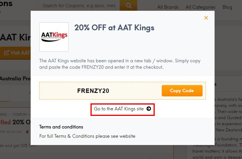 How do I use my AAT Kings promo code?