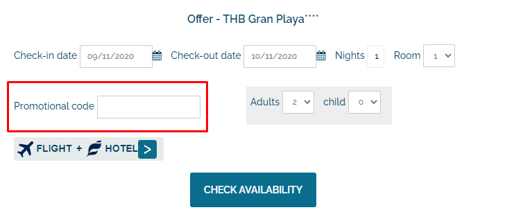 How do I use my THB Hotels promotional code?