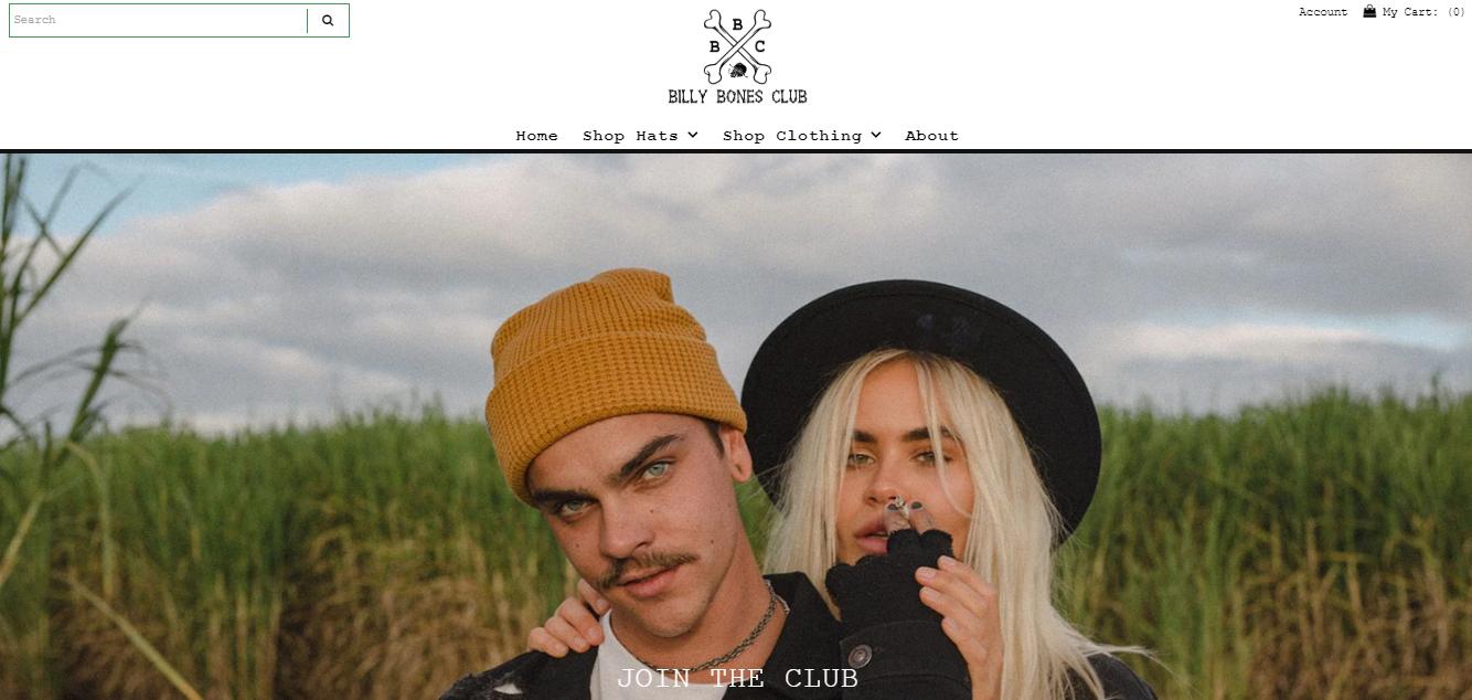 Billy Bones Club Homepage