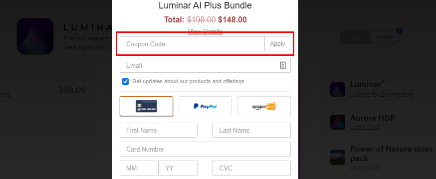 How do I use my Skylum Software coupon code?