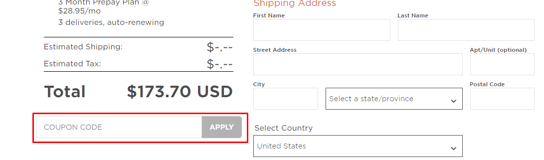 How do I use my Bitsbox coupon code?