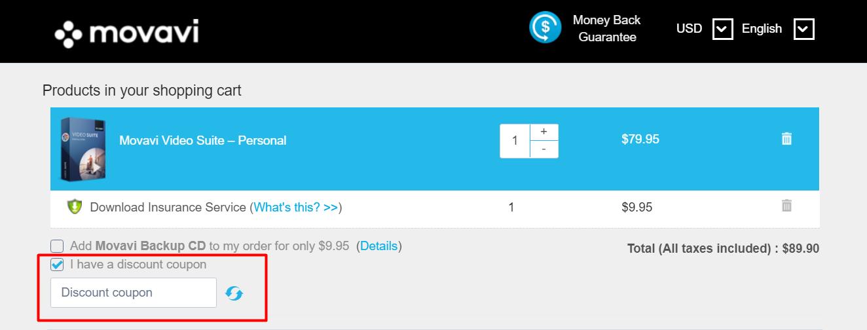 How do I use my Movavi discount code?