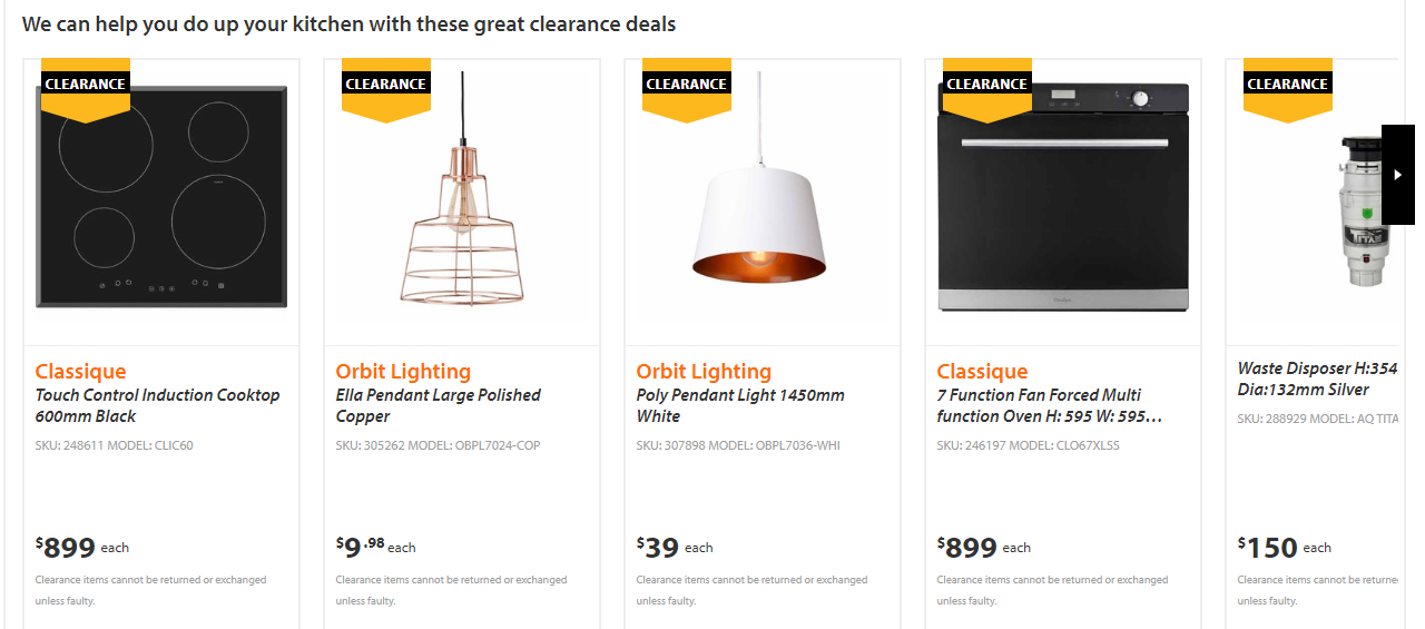 Mitre 10 Clearance