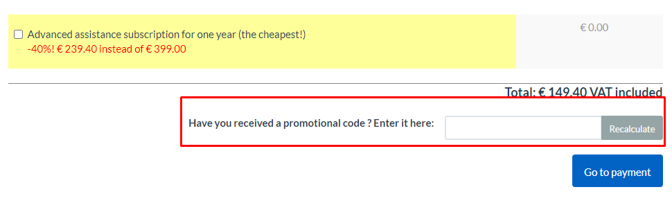 How do I use my Finson promotional code?