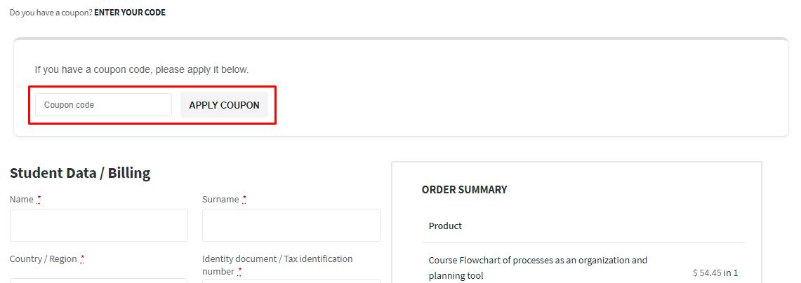 How do I use my Escuela Europea coupon code?