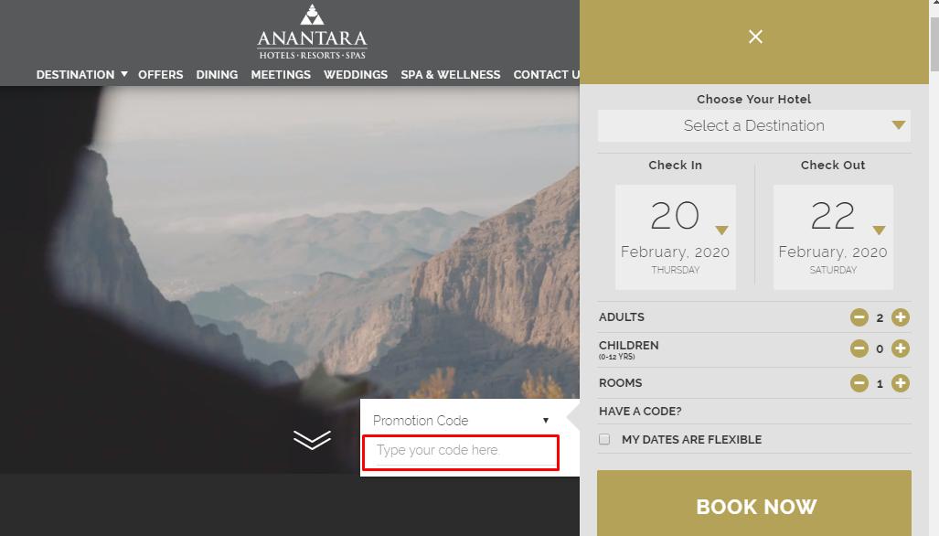 How do I use my Anantara Resorts discount code?