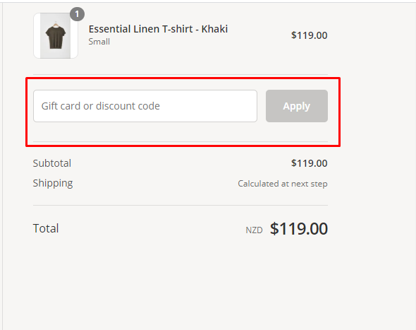 How do I use my Laing Home discount code?