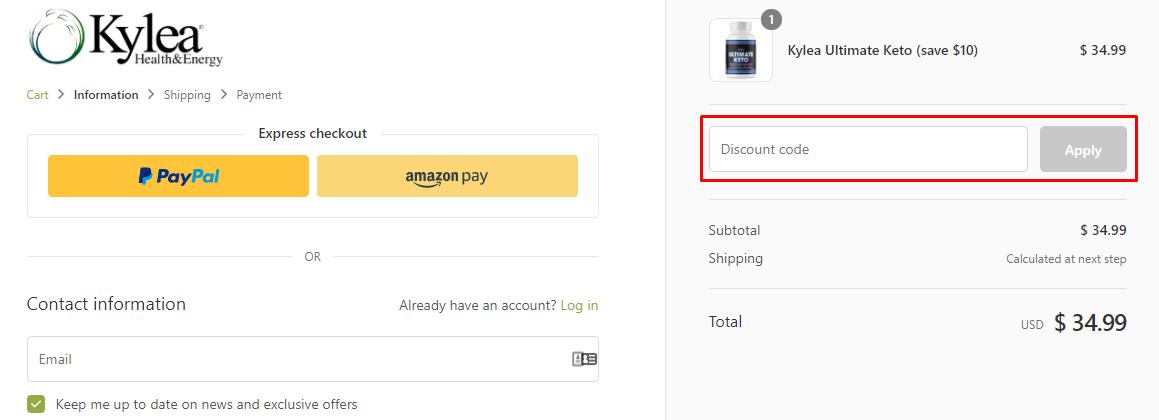 How do I use my Kylea Health discount code?