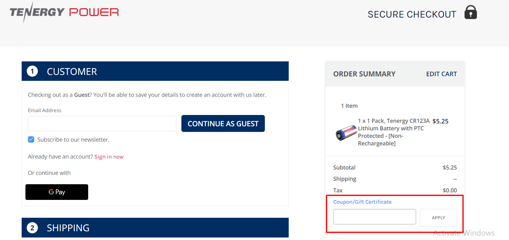 How do I use my Tenergy discount code?