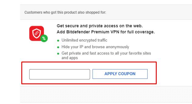 How do I use my Bitdefender coupon code?