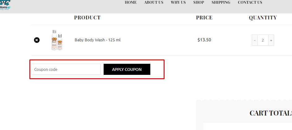 How do I use my Bottomsup coupon code?