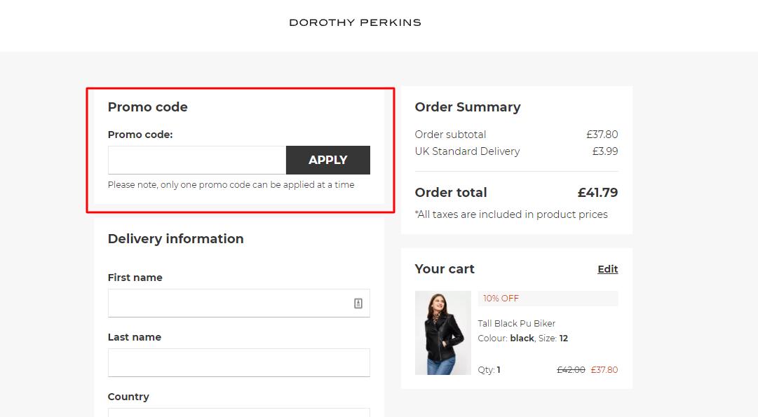 How Do I Use My Dorothy Perkins Promo Code?