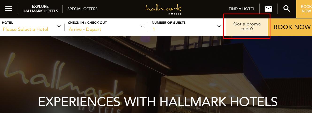 How do I use my Hallmark Hotels discount code?