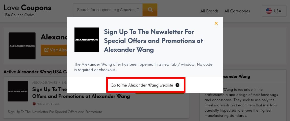 Alexander Wang US Get Coupon