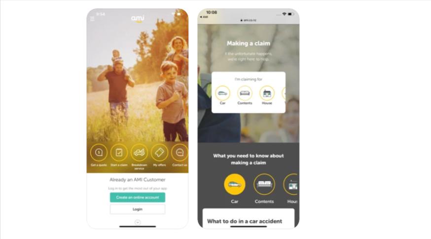Ami Insurance Mobile App