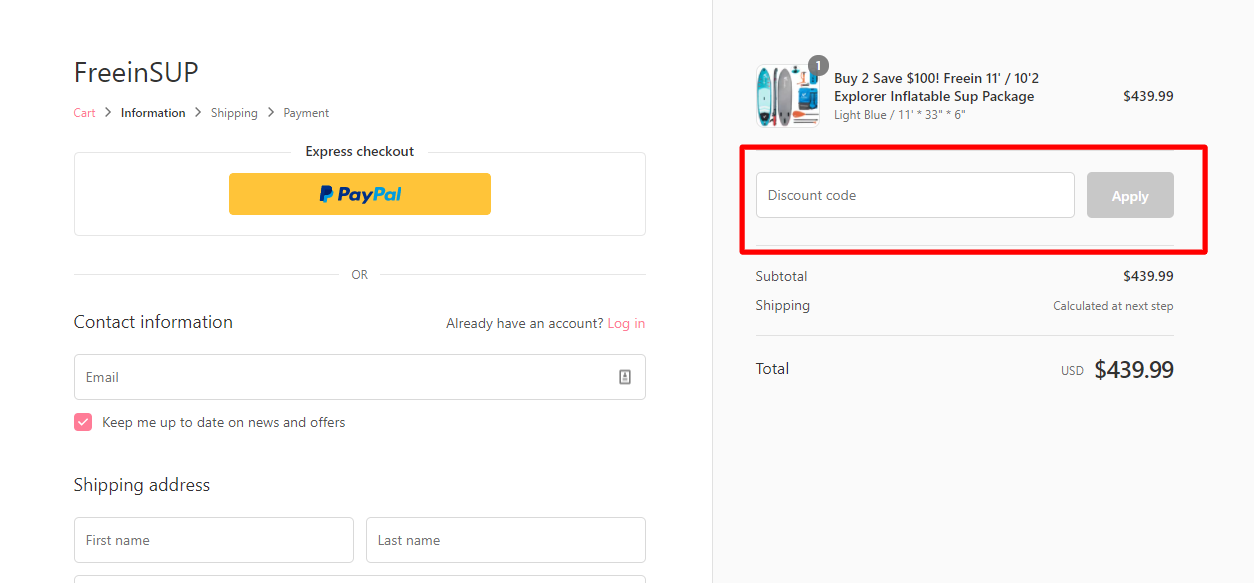 How do I use my Freein discount code?
