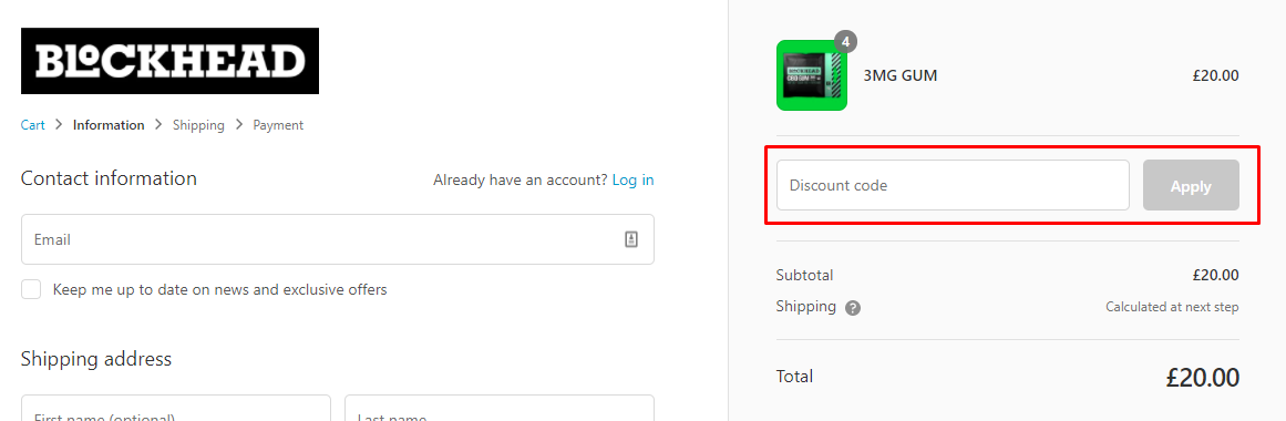 How do I use my Blockhead discount code?