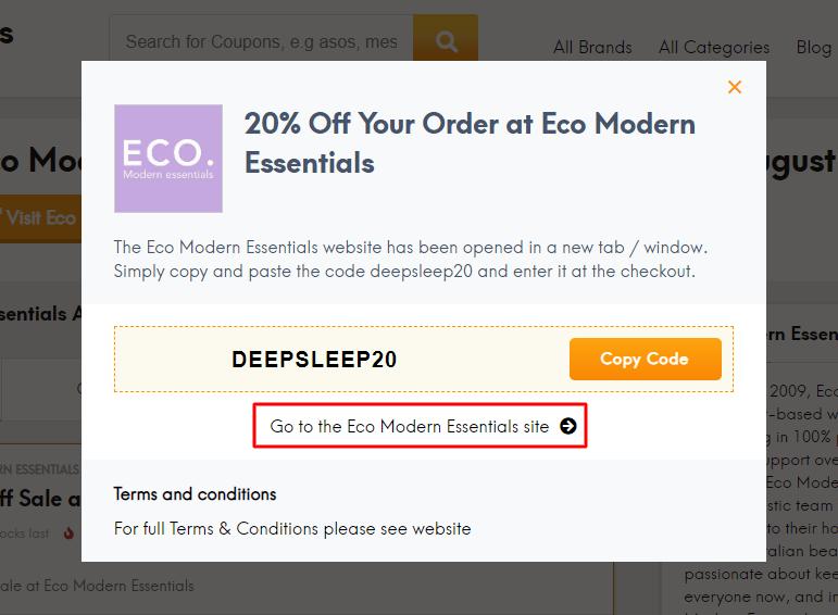 Go to Eco Modern Essentials site