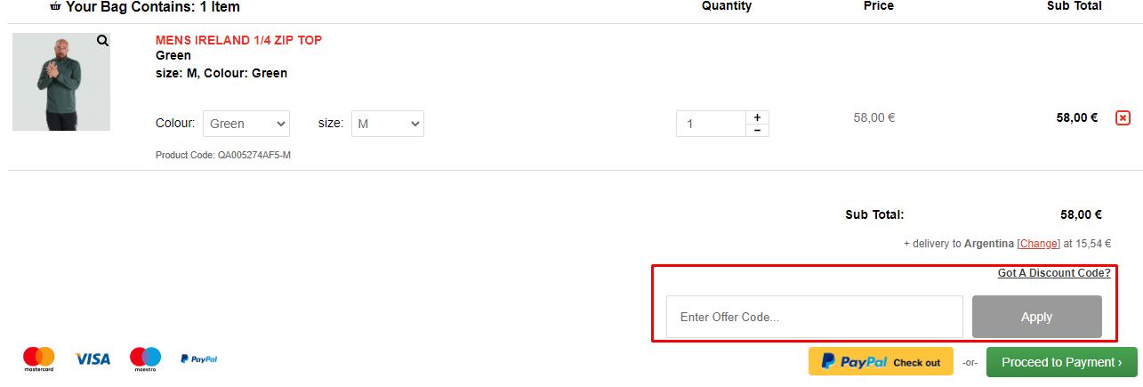 How do I use my Canterbury discount code?