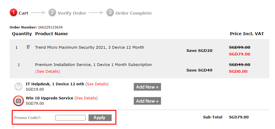 How do I use my Trend Micro promo code?