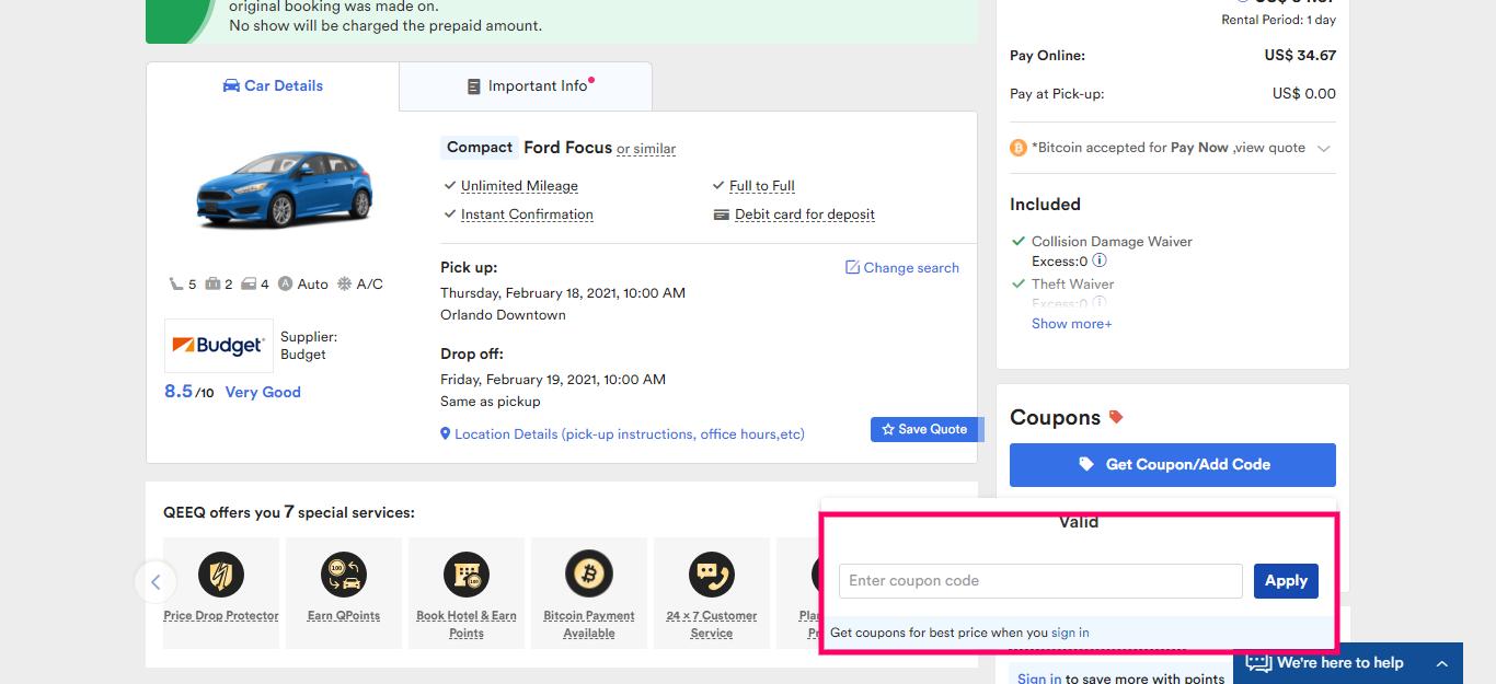 How to useQeeq.com Coupon code